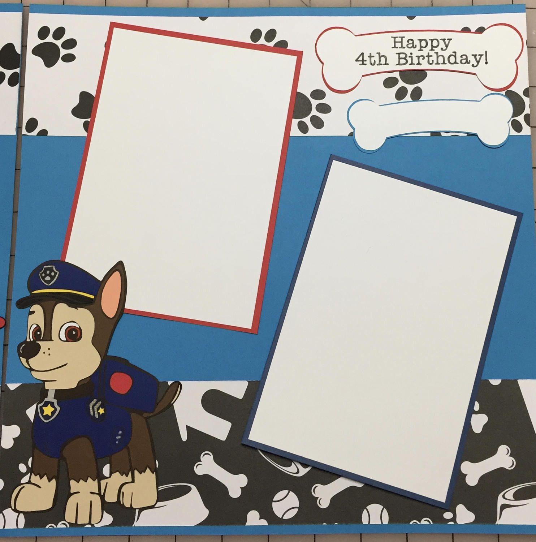Paw Patrol ASSEMBLED Scrapbook Page Skye