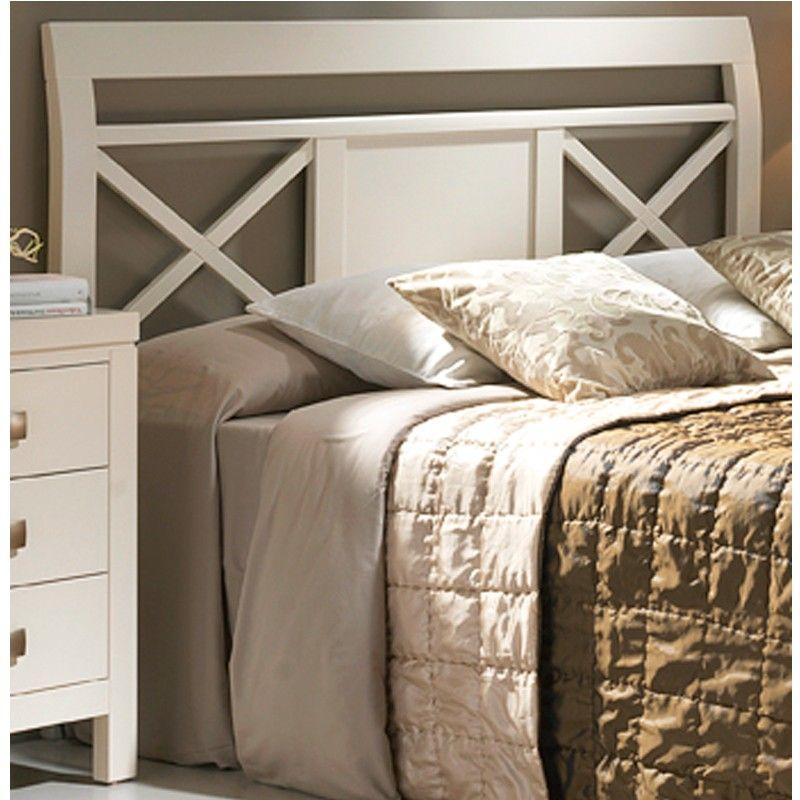 Cabezal de cama con tablero central y dos aspas. Cabecero en madera ...