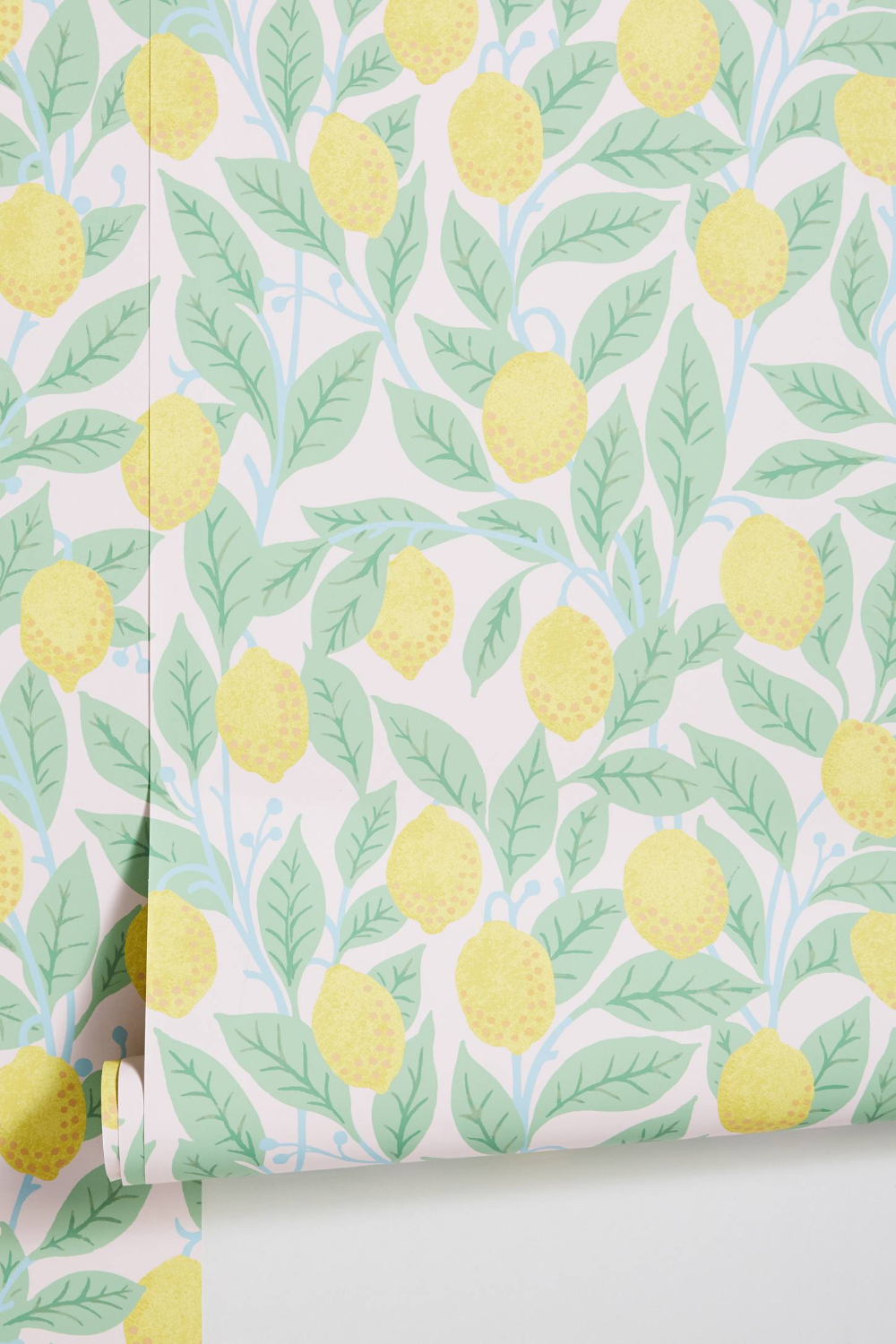Lemons Wallpaper by Anthropologie in Blue, Wall Decor in
