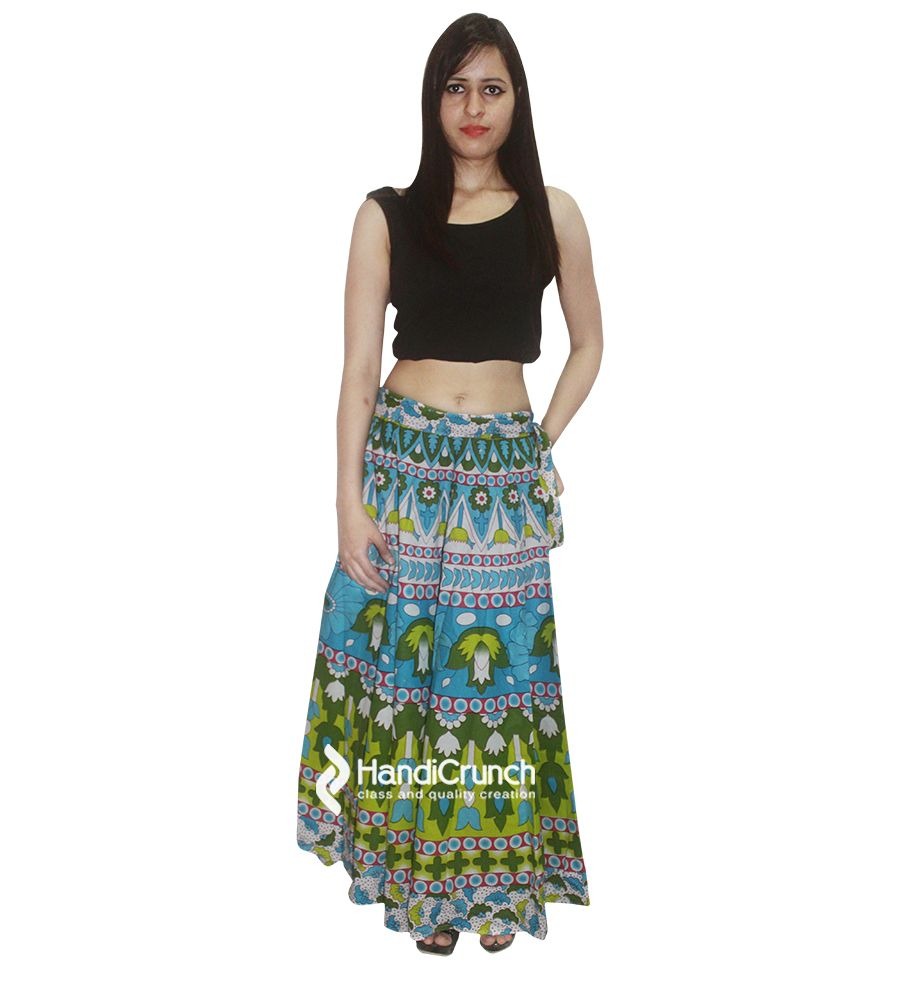 Floral printed long skirt rapron for girls | Rapron - Skirts ...