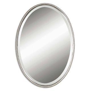 Image On Sherise Brushed Nickel Oval Mirror