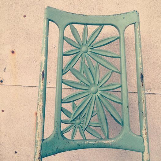 Mid Century Green Flower Chair by PsyChicVintageGoods on Etsy