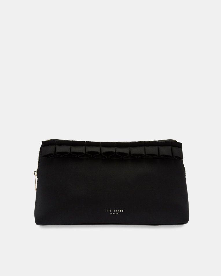 83e1d197da24 Ruffle detail wash bag - Black