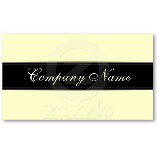 Elegant Simplicity Pastel Yellow Business Cards
