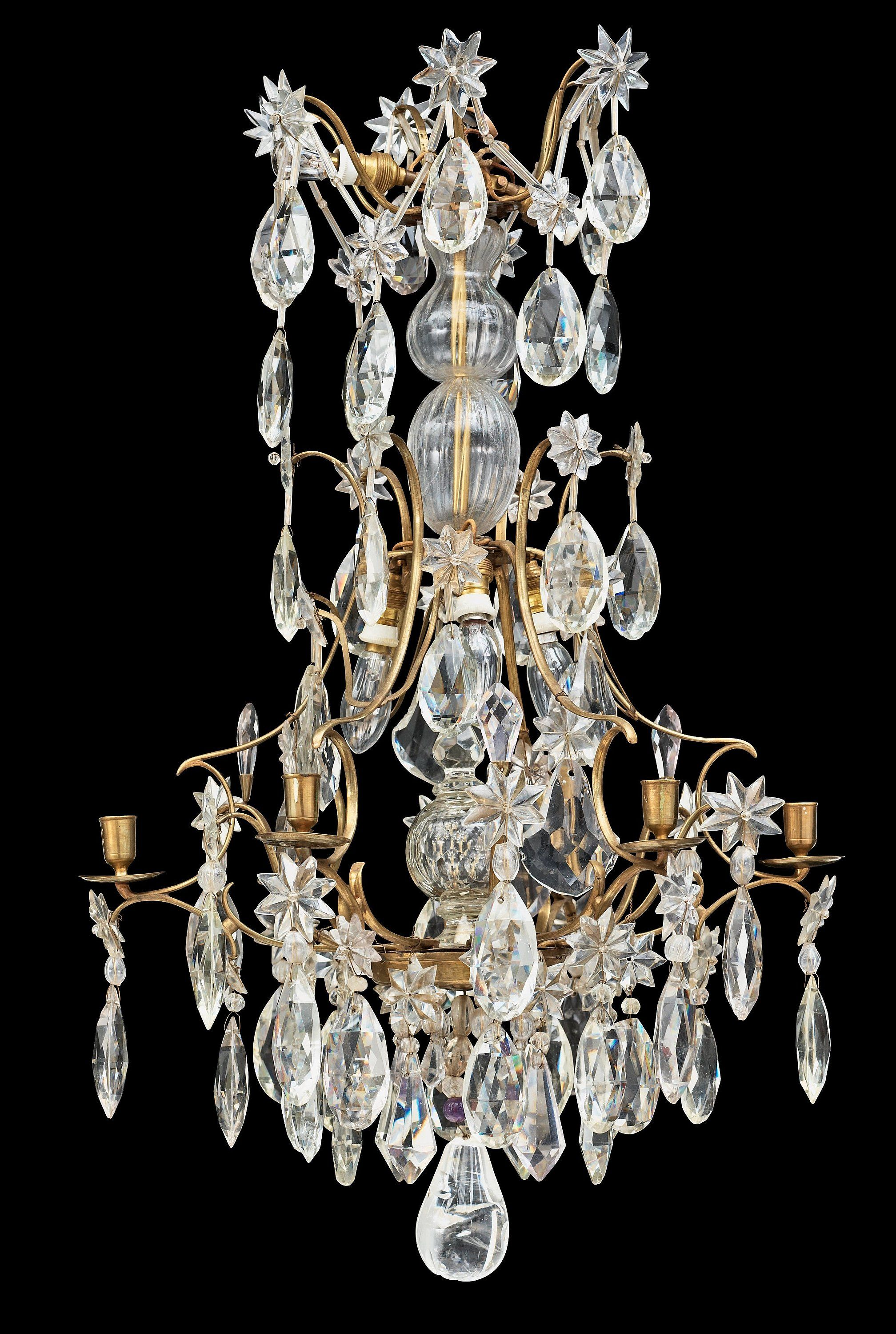 A swedish rococo 18th century six light chandelier 18th c sweden a swedish rococo 18th century six light chandelier arubaitofo Image collections