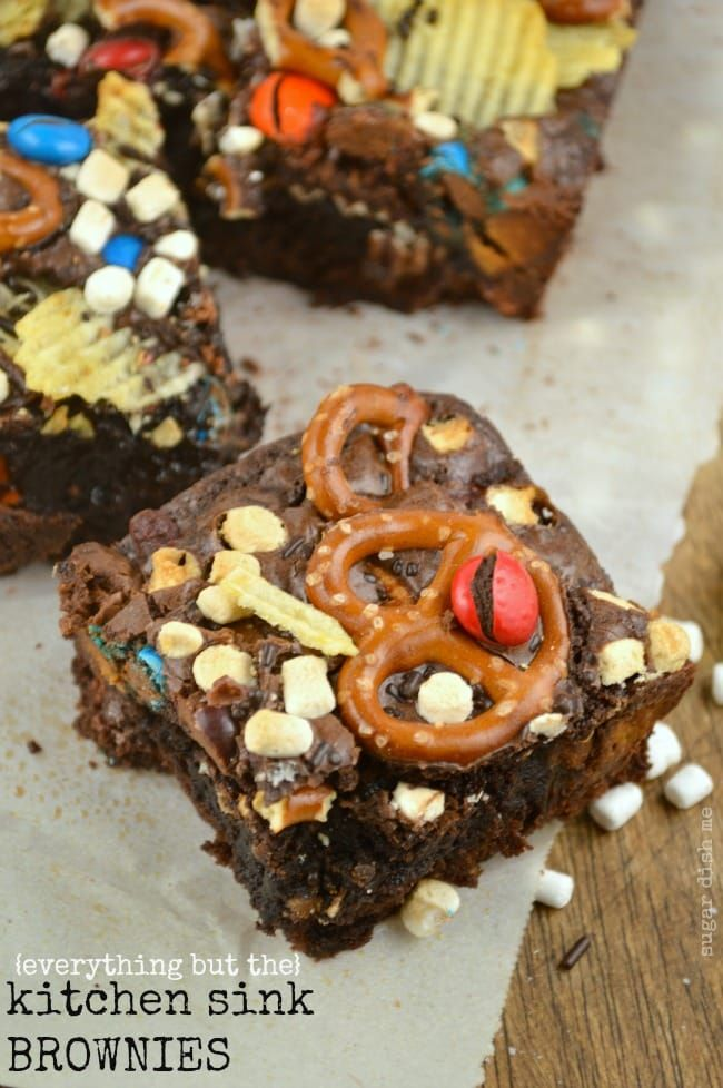 (everything but the) Kitchen Sink Brownies | Recipe | Easy ...