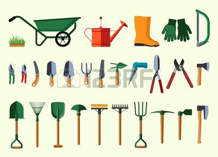 Herramientas de jardiner a ilustraci n dise o plano de for Articulos de jardineria