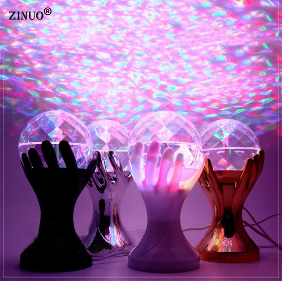 Zinuob Auto Rotating Rgb Led Buhne Lampen Palm Kristall Magie Kugel Beleuchtung Lampe Party Disco Dj Licht 110 V 220 V Disco Laser Lights Crystal Magic Ball Led Stage Lights