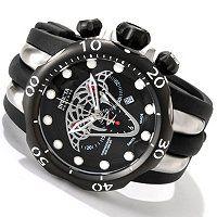 Looks great in the rose tone also! Invicta Reserve Men's Venom Viper Swiss Made Quartz Chronograph Polyurethane Strap Watch ShopNBC.com
