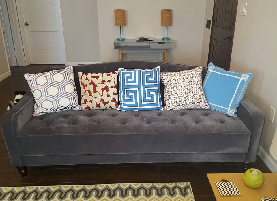 Novogratz Vintage Tufted Sofa Bed In Velour Multiple Colors Walmart Com Tufted Sofa Gorgeous Sofas Vintage Sofa