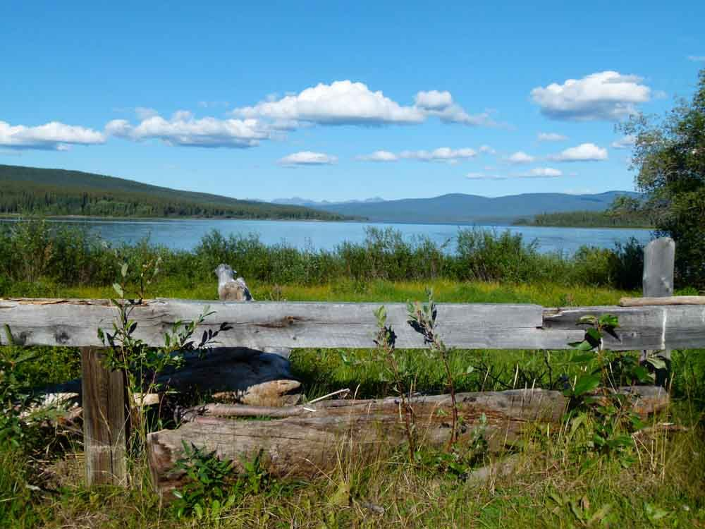 Teslin, Yukon. It's beautiful territory.