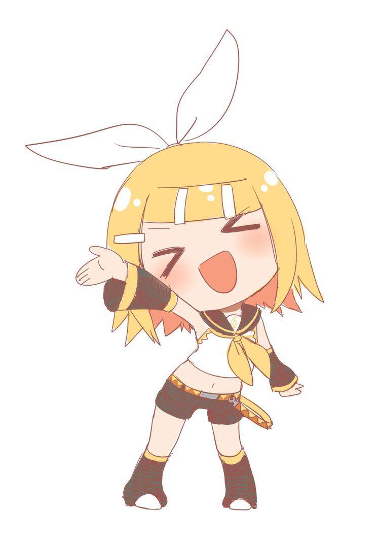 Rin Kagamine | Kawaii girl, Anime, Kawaii anime  |Rin Kagamine Anime