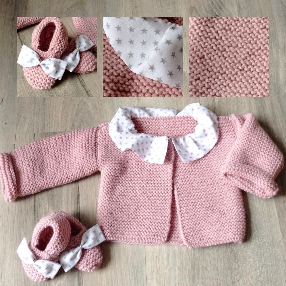 Pack brassi re et ballerine fille en laine rose poudr et - Ballerine rose poudre ...