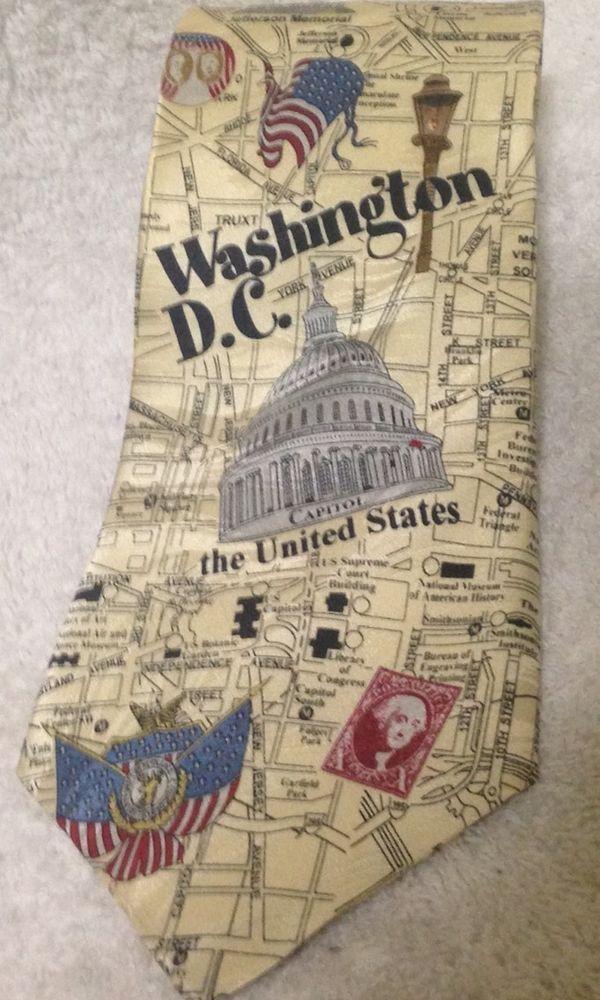 Washington DC United States Capitol Mens Novelty Neck Tie