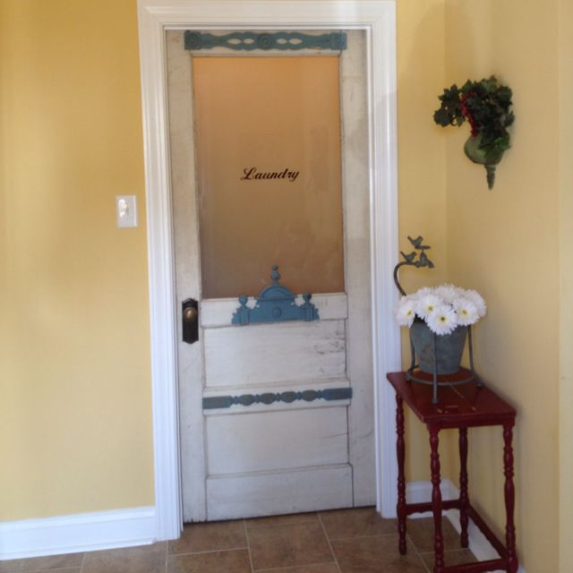 Salvaged door with added details