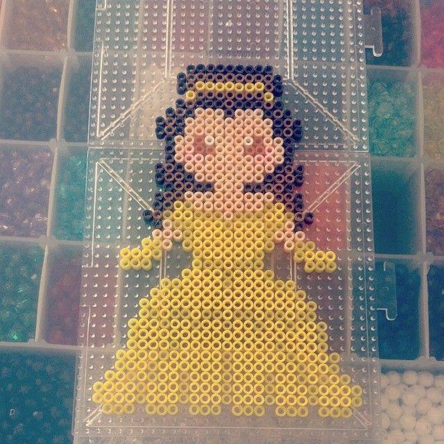 Disney Belle perler beads by kandikidyushi