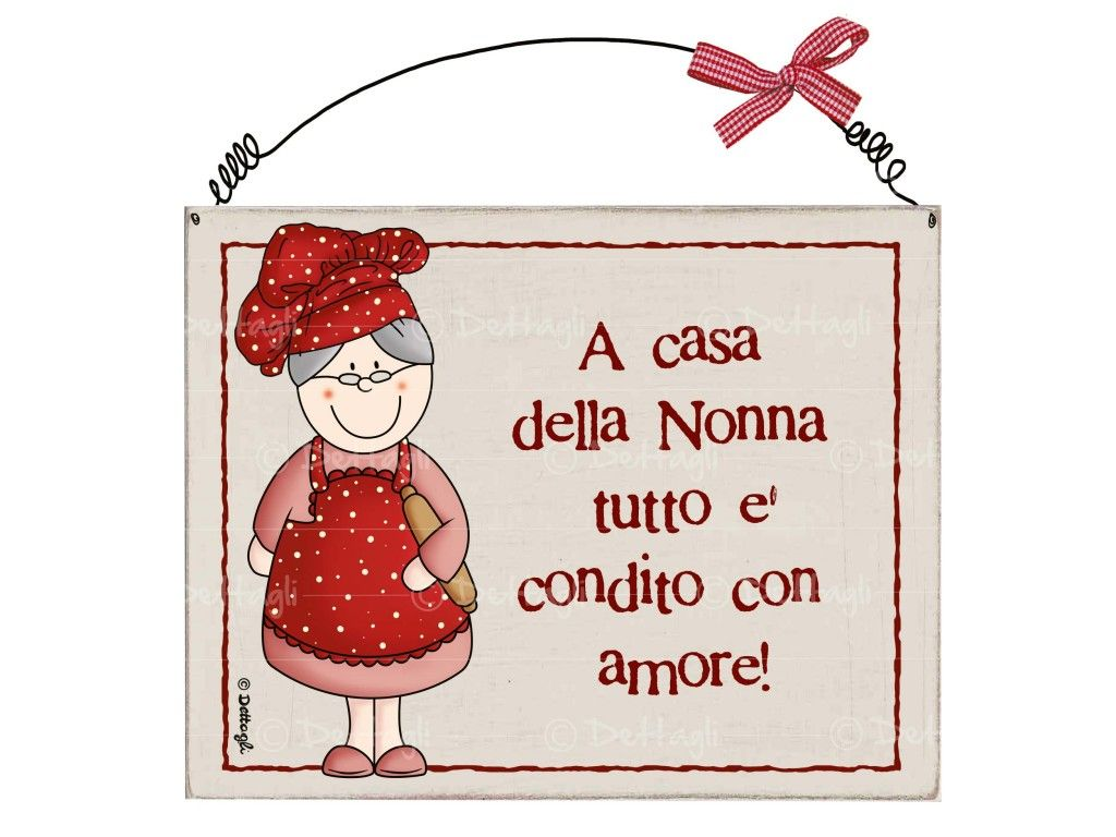 Targhetta nonna cuoca A casa della nonna  targhe  Grandma cooking Country paintings e Decoupage