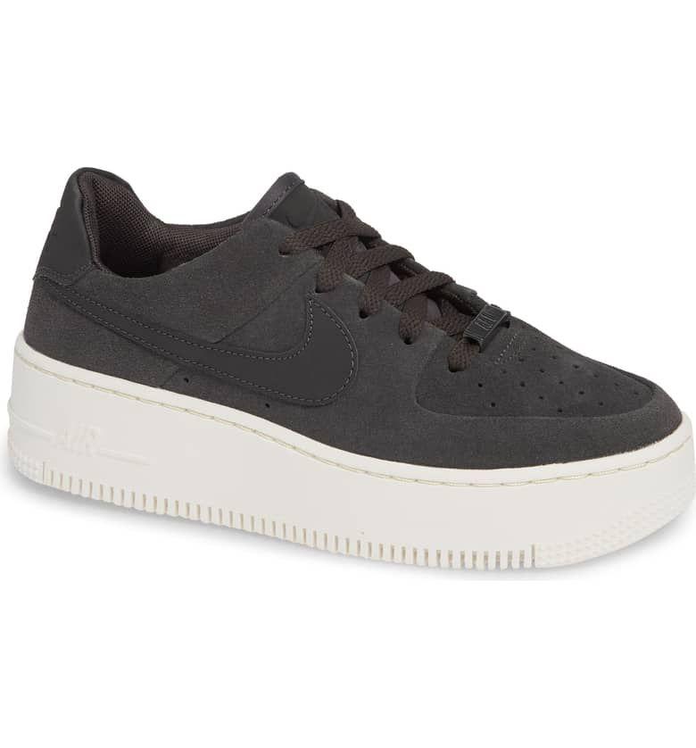 air force 1 sage low platform sneaker phantom white
