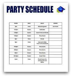 party schedule graduation party graduation party planning