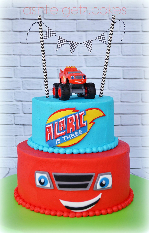 Monster Truck 3rd Birthday cake Beautiful Cakes Pinterest
