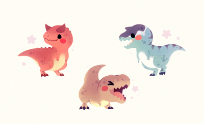 Cute Dinosaurs By Fluffysheeps Tumblr Com Ittybitty Arms Squad