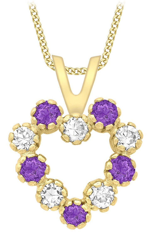 Carissima Gold Collier Femme Avec Pendentif Coeur Or Jaune 9