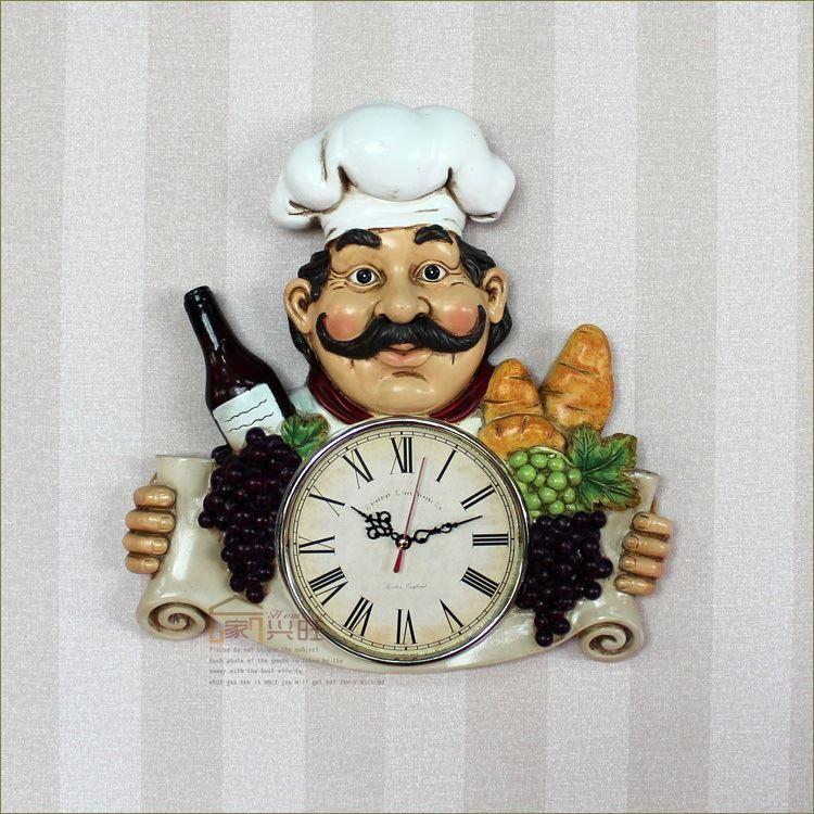 Europäischen Stil Kreative Land Persönlichkeit Uhren Küche - wanduhr für küche