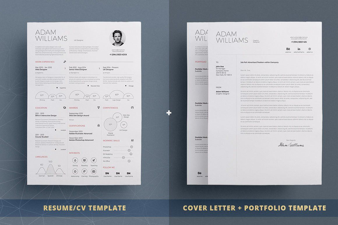 Infographic ResumeCv Template Vol By Theresumecreator On