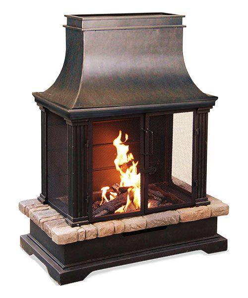 Brownston Outdoor Fireplace Sunjoy Http Www Amazon Com Dp B00dhe1w4o Ref Cm Sw R Pi Dp Dshcub0jvcn4 Outdoor Fireplace Patio Outdoor Fireplace Outdoor Retreat