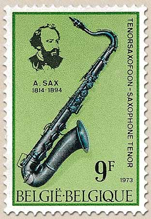 Belgian Stamps Music InstrumentsTenor Saxofoon And Adolphe Sax