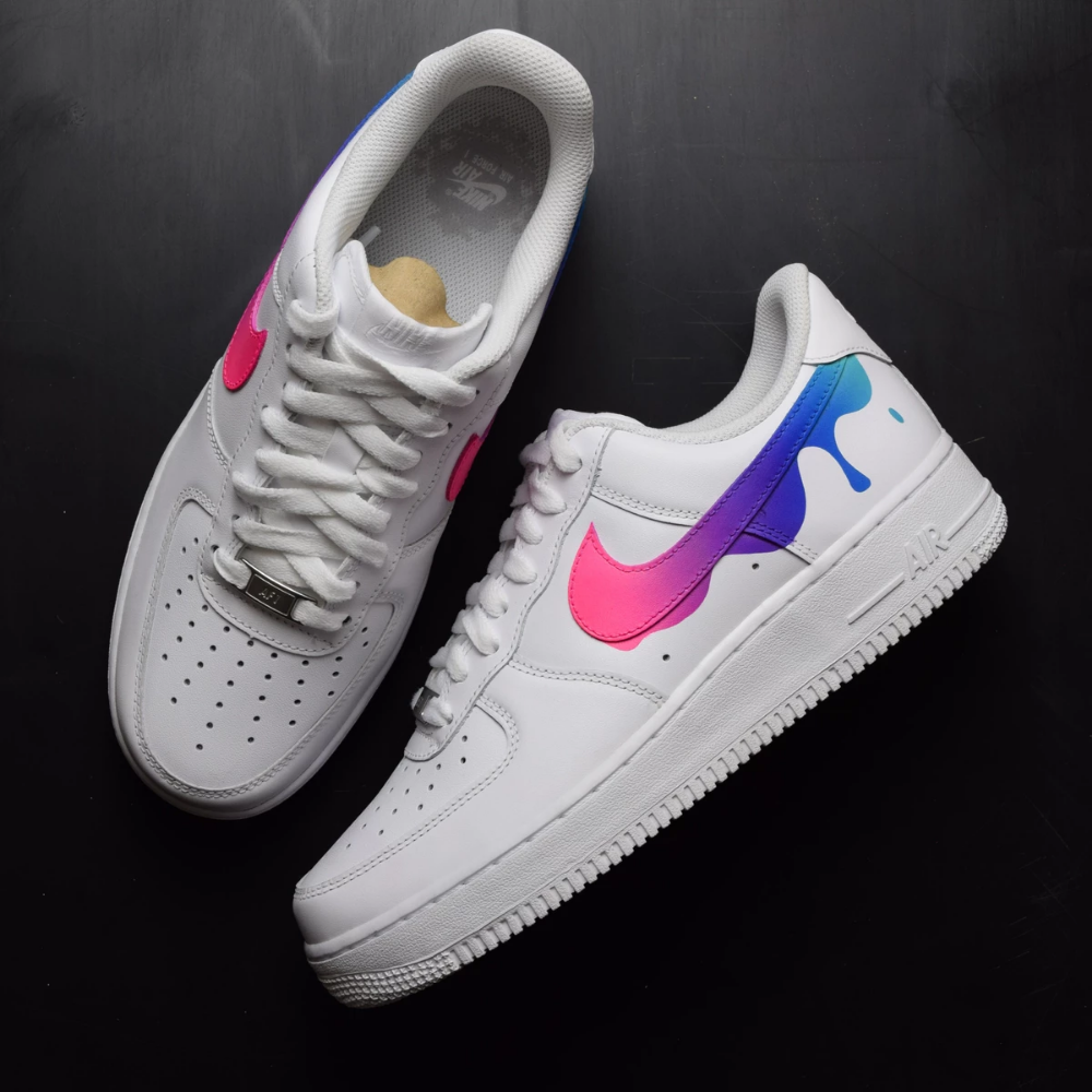 Nike air force 1 paint drip custom shoes in 2019