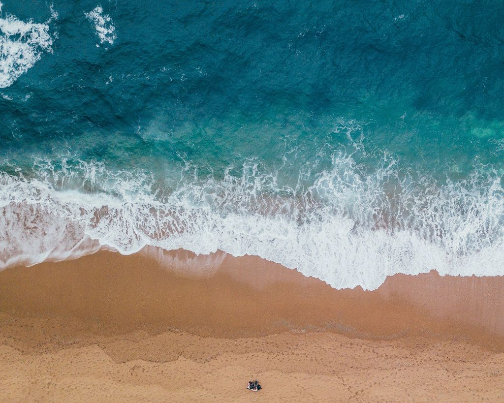 Beach Drone View Hd Wallpaper Sea Pictures Beach Pictures Waves Photos