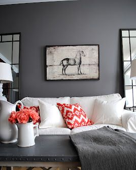gauntlet gray by sherwin williams gorgeous w the white and coral rh pinterest com