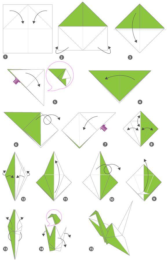 tutoriel origami grue