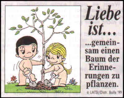 Liebe Ist Gemeinsam Einen Baum Der Erinnerung Zu Pflanzen Liebe Liebe Ist Cartoon Romantische Liebe