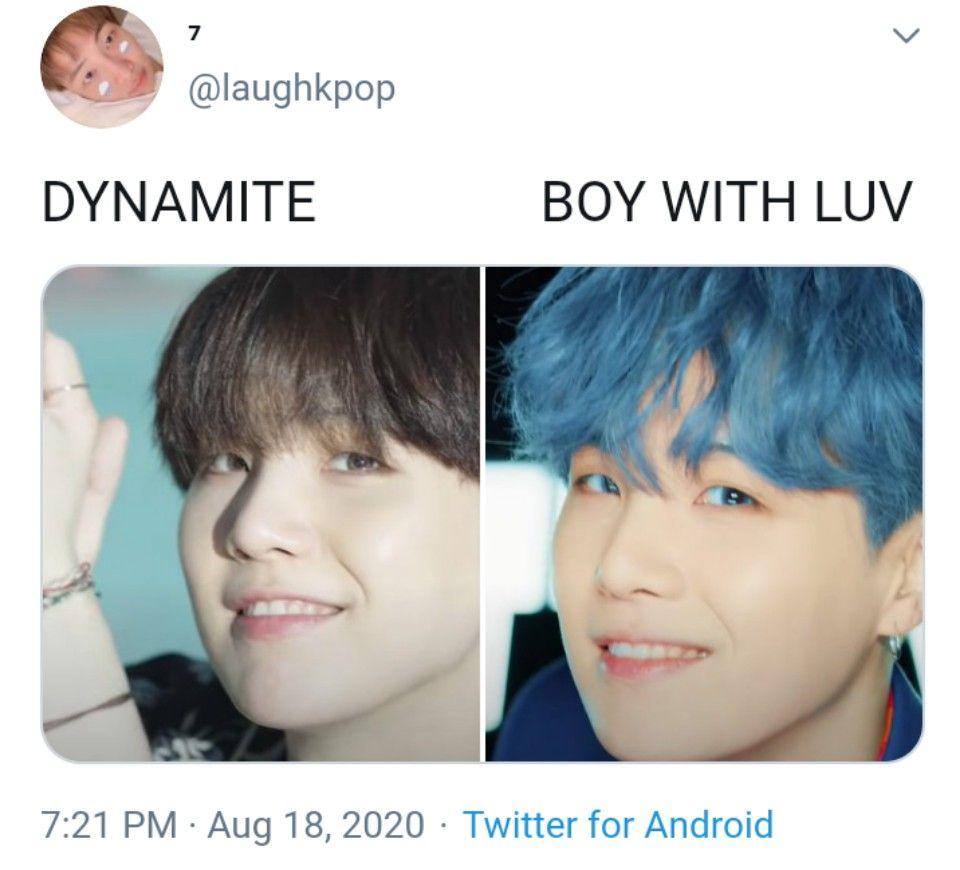 Dynamite Boy With Luv In 2020 Kpop Memes Bts Bts Theory Album Bts