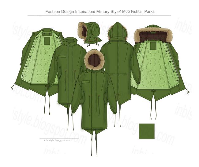 Designer Fishtail Parka