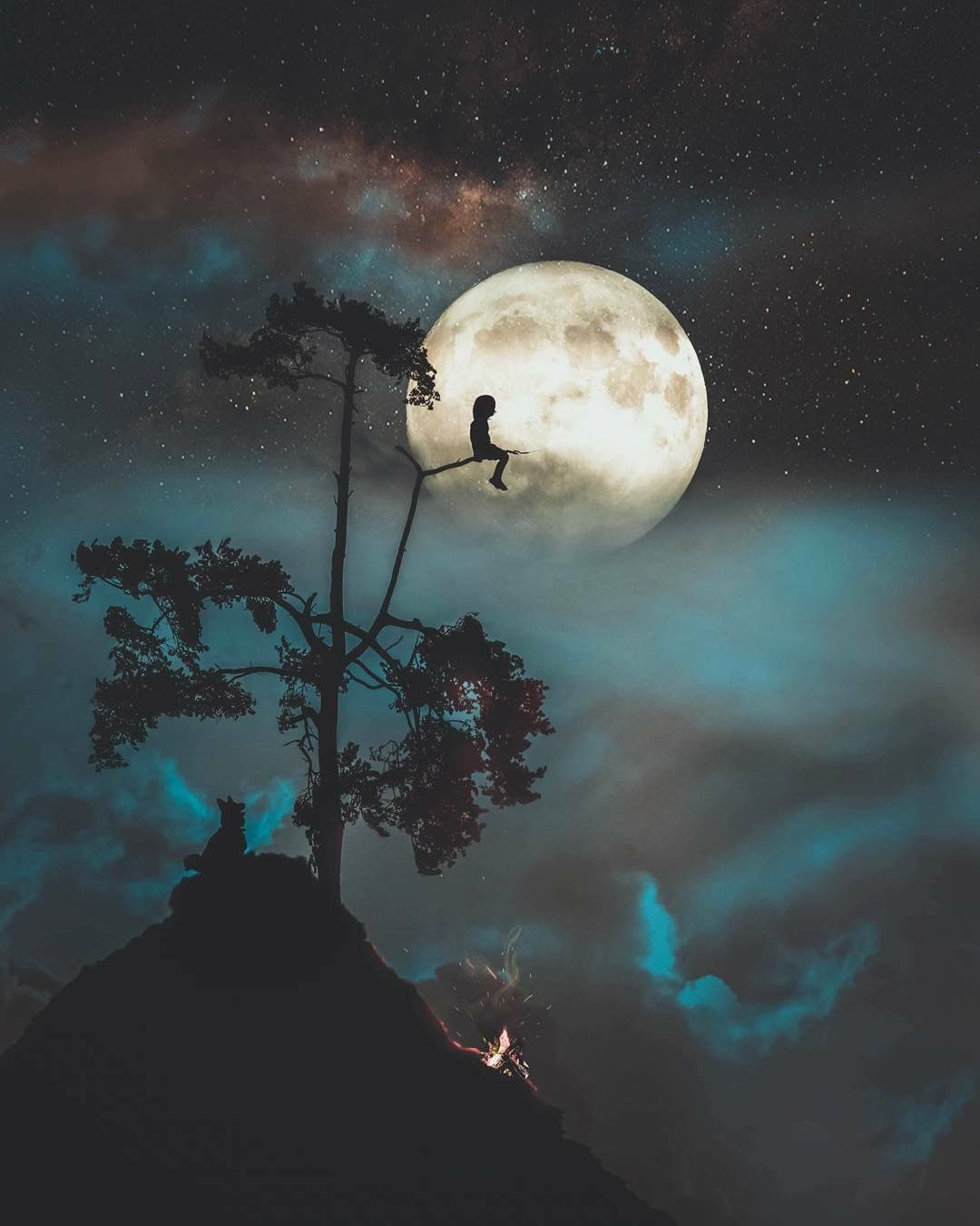 She Was A Real Romantic She Loved The Moon And Stars Rain And Thunder Fotografia De Paisagem Arte Da Lua Wallpapers Bonitos