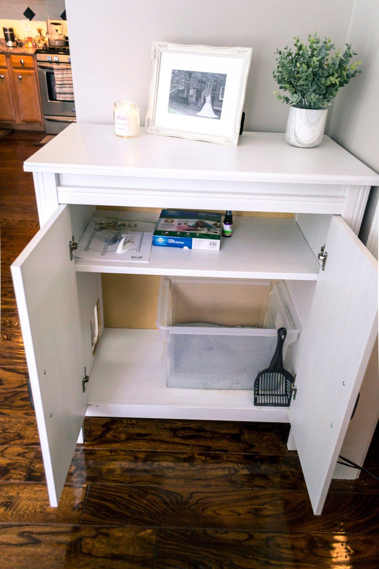 Ikea Brusali Hack Litter Box Cabinet Tidy And Tasty Ikea Brusali Ikea Litter Box