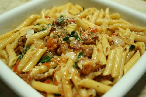 Tomato Chorizo Pasta