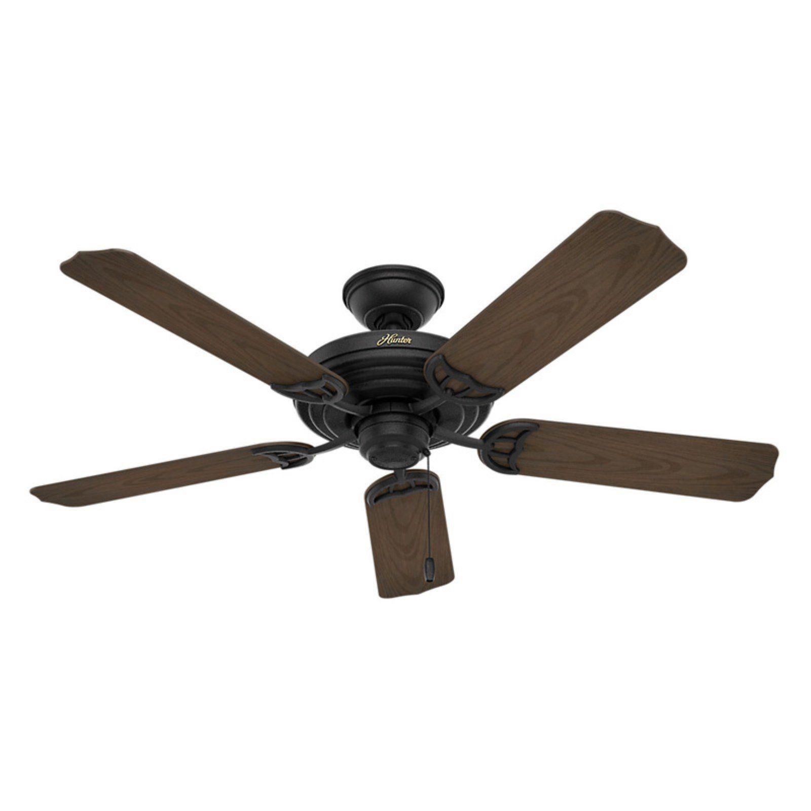 Hunter Sea Air 52 In Indoor Ceiling Fan Black Ceiling Fan