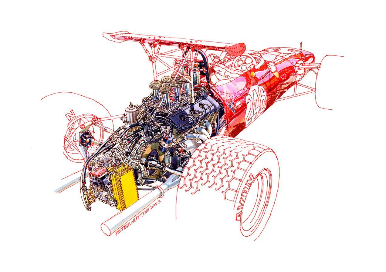 Ferrari Tasman A2 Print By Peter Hutton