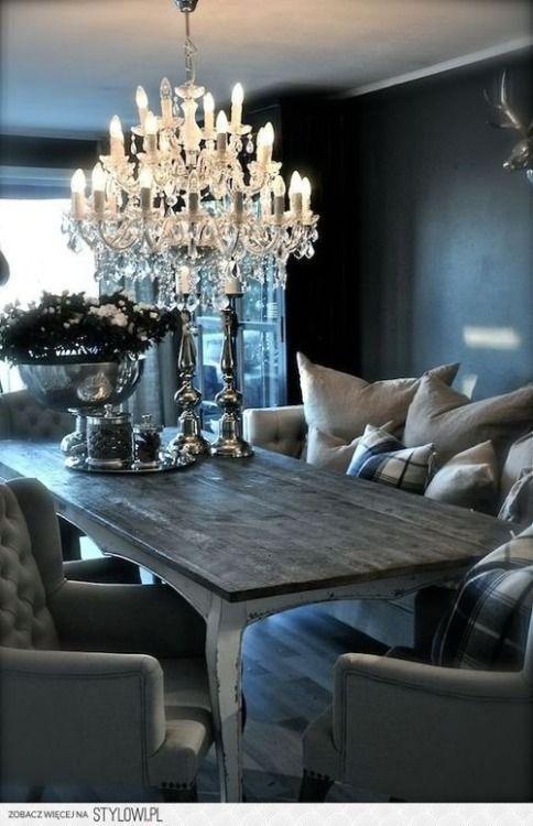 dark grey dining can be so cozy