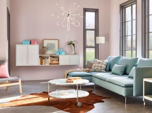 salon couleur pastel et rose poudr ikea tendres passions pinterest couleurs pastel rose. Black Bedroom Furniture Sets. Home Design Ideas