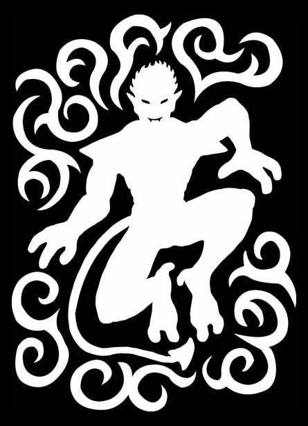 282 die cut vinyl decal tribal demon silhouette art 20 colors laptop bumper sticker car vehicle truck window