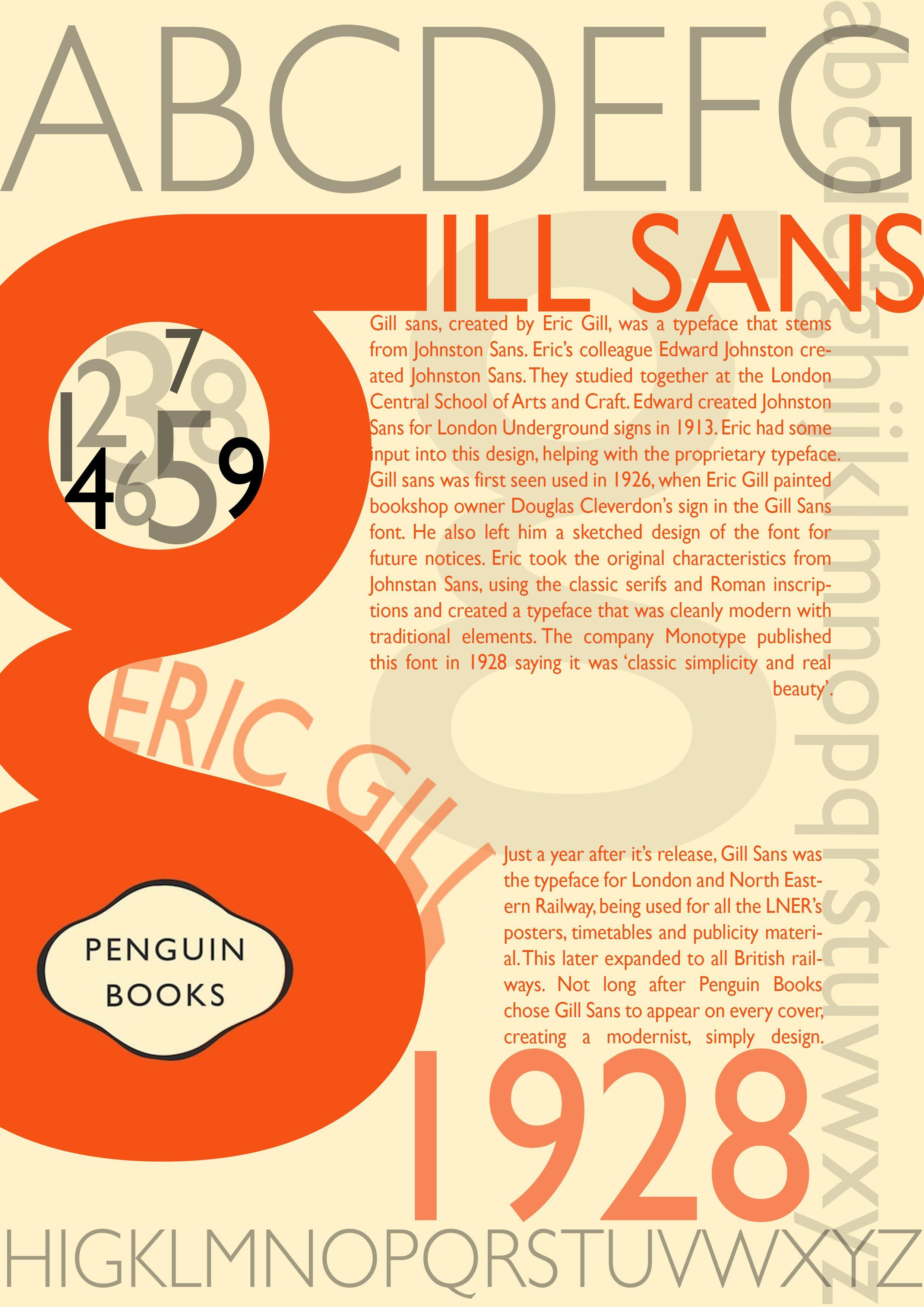 typography - gill sans