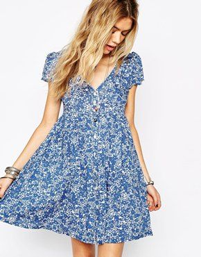 093812a09 Denim   Supply By Ralph Lauren Floral Babydoll Dress