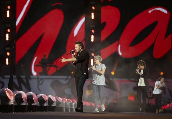 The boys on stage in Minneapolis