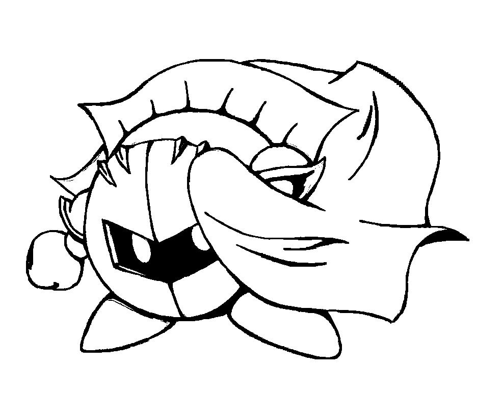 Meta Knight Lineart By Knighta3 Deviantart Com On Deviantart Meta Knight Kirby Art Sketches