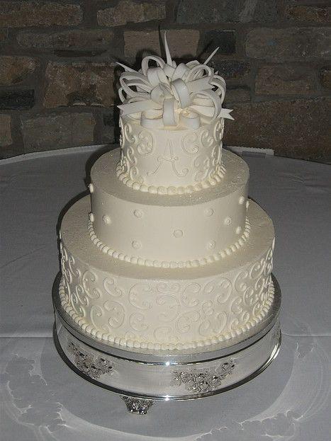 Free design other than ribbon. Fondant ribbon on top is extra. A Spoon Fulla Sugar, Wedding Cakes, Cincinnati